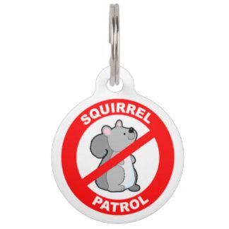 Squirrel Patrol Pet ID Tag