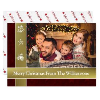 Squirrel Photo Bomb Family Photo Christmas Card