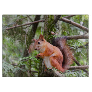 Squirrel Photograph Cutting Board