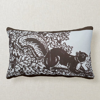 Squirrel Pillow Brown and White Tile Elegant Decor