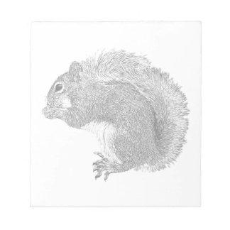 Squirrel Plain Notepad