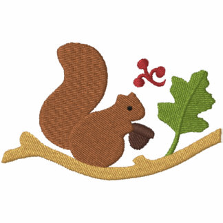 Squirrel Play Embroidered Hoodies