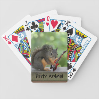 Squirrel Playing Electric Guitar Bicycle Playing Cards