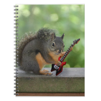 Squirrel Playing Electric Guitar Notebook