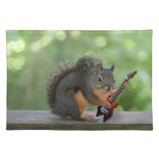 Squirrel Playing Electric Guitar Placemat