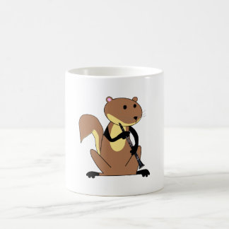 Squirrel Playing the Clarinet Coffee Mug