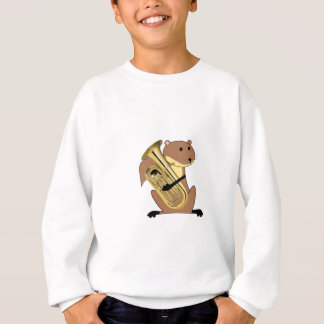 Squirrel Playing the Euphonium Sweatshirt