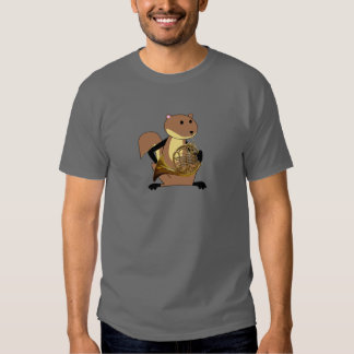 Squirrel Playing the French Horn Shirts