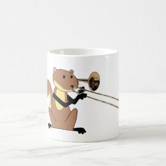 Squirrel Playing the Trombone Coffee Mug