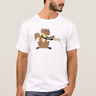 Squirrel Playing the Trumpet T-Shirt