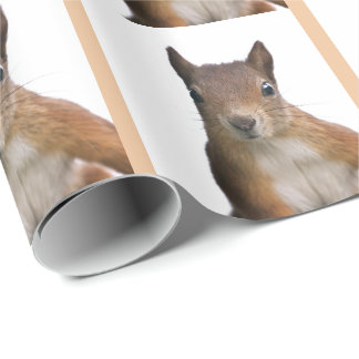 Squirrel Portrait Wrapping Paper