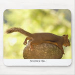 Squirrel Relaxing Mousepad