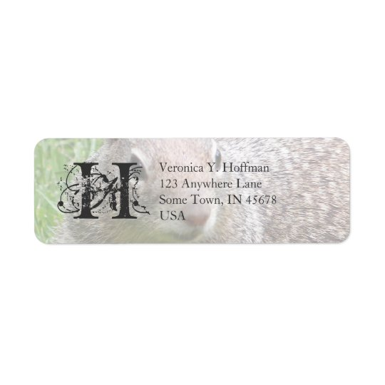 Squirrel Return Address Label