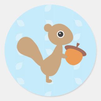 Squirrel! Round Sticker
