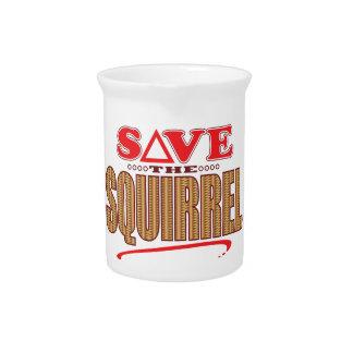Squirrel Save Beverage Pitcher
