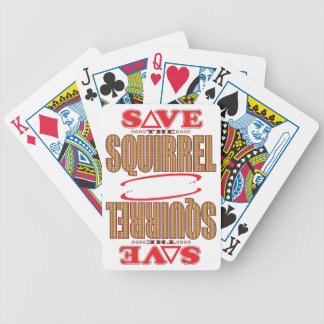 Squirrel Save Bicycle Playing Cards