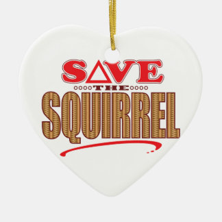 Squirrel Save Christmas Ornament