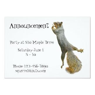 Squirrel Shout Party Announcement