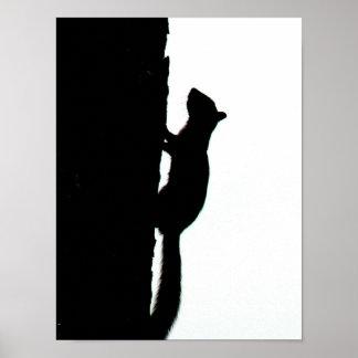 Squirrel Silhouette Print