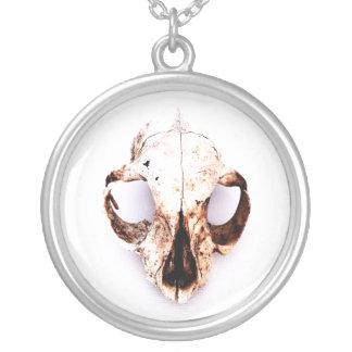 SQUIRREL SKULL necklace round lg.