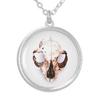 SQUIRREL SKULL necklace round med.