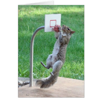 Squirrel Slam Dunk Greeting Card