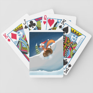 Squirrel Snowboarding Bicycle Playing Cards