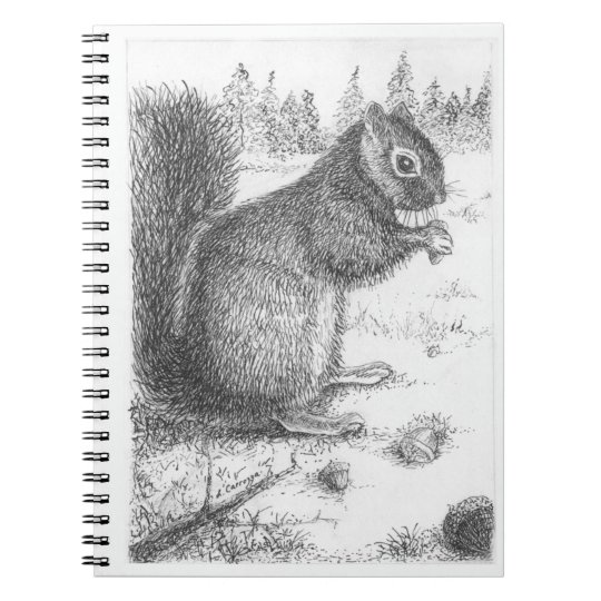 Squirrel Spiral Note Book