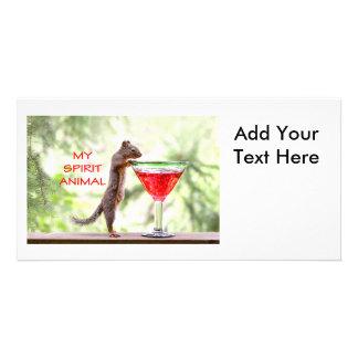 Squirrel Spirit Animal Photo Greeting Card