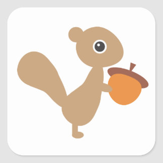 Squirrel Square Sticker