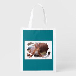 Squirrel - Squirrel - Écureuil - photo Glineur Reusable Grocery Bag