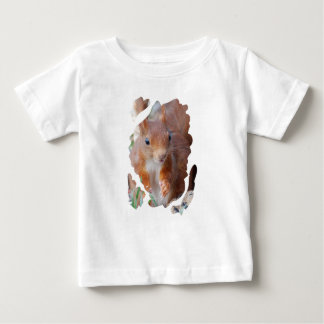 Squirrel squirrel Écureuil - photo: JL Glineu Baby T-Shirt