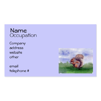 Squirrel Study Business Card Template