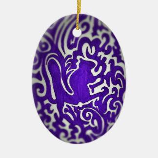 Squirrel Swirl (2) Ceramic Oval Decoration