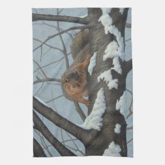 Squirrel Tea Towel