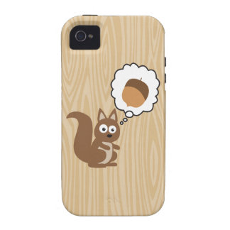 Squirrel Thinking About Nut Case-Mate iPhone 4 Cover
