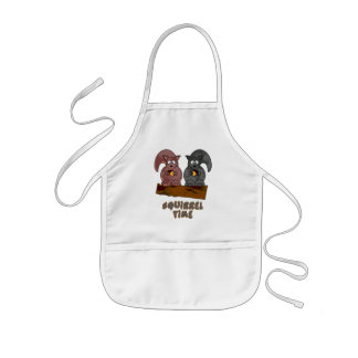 Squirrel Time Kids Apron