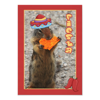 Squirrel, Tortilla Chip Fiesta Invitation