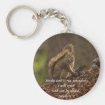 Squirrel - Trust Basic Round Button Key Ring