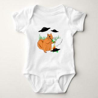Squirrel vs. Aliens Baby Bodysuit