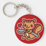 Squirrel with a spoon keychain