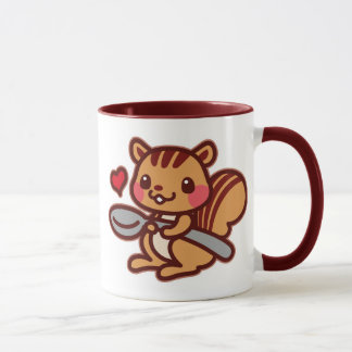 Squirrel with a spoon mug