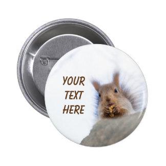 Squirrel with a walnut 6 cm round badge