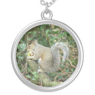 Squirrel with Acorn Necklace