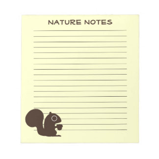 Squirrel with Custom Text Notepad