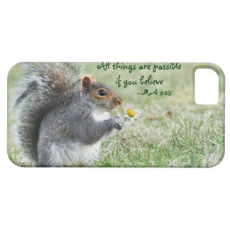 Squirrel with Daisy Mark 9:23 iPhone 5 ID Case