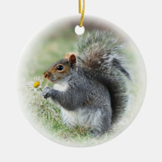 Squirrel with Daisy Mark 9:23 Ornament