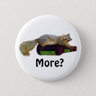 Squirrel with Empty Beer Bottle 6 Cm Round Badge
