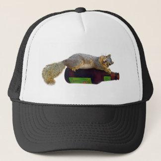 Squirrel with Empty Beer Bottle Trucker Hat