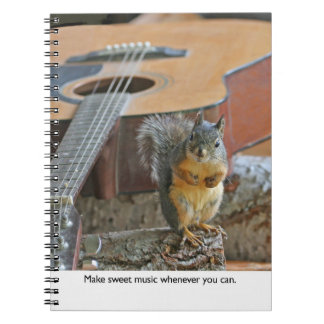 Squirrel with Guitar Notebook